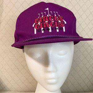 Vintage SnapBack Circus Circus Purple Hat